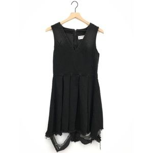 One Teaspoon Black X Metal Destroyed Anna Dress S